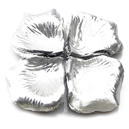 Amesii Künstliche Rosenblüten für Hochzeiten, Tischpartys, Seide, 1000 Stück Silber
