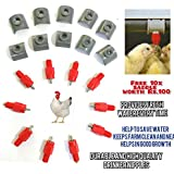 Praish highly Durable Water Feeder Poultry Nipple Drinker Duck Hen Screw In Automatic with saddle as a free bee(each 10 pieces)