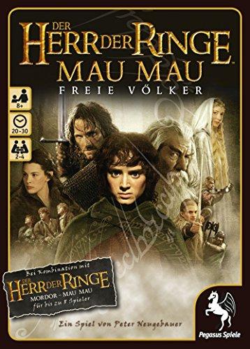 Pegasus Spiele 18121G - Herr der Ringe MauMau, Freie Völker -