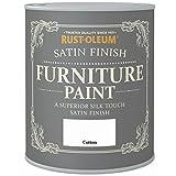 Rust-Oleum Satin Finish Furniture Paint Cotton 750ml by Rustoleum