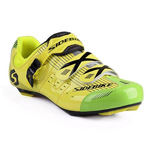 Herren/Mann Professionelle Radschuhe Rennrad Fahrradschuhe(Wählen Sie eine Größe mehr als üblich) SD-003 Gelb / Grün