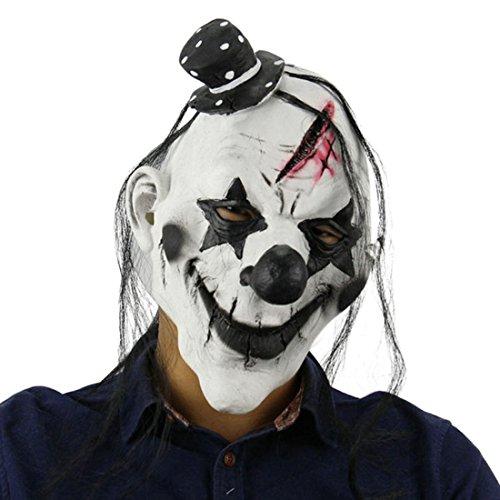 Jiyaru Halloween Clown Mask Scary Head Costume Prop Horror Decor Party Cosplay  1