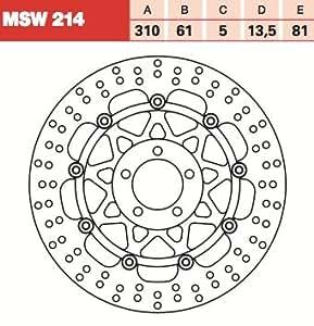 TRW Lucas Disque de frein avant fixé pour Kawasaki ZZR 1100C zxt10C 90–92MSW214