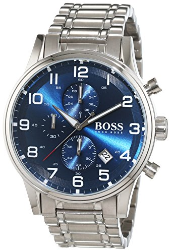 Hugo-Boss-Mens-Quartz-Watch-with-Chronograph-Quartz-Stainless-Steel-1513183