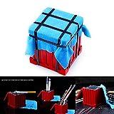 Konesky PUBG Drop Air Box, Caja de Almacenamiento Multifuncional Mochila Llavero Llavero Eat Chicken Game Collection Cenicero de Metal Lápiz Contenedor Aleación Adornos