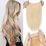 TESS Extensions Echthaar 1 Tresse Doppelt Dicke Draht komplette Haarverlängerung guenstig Haar Extensions Glatt 20