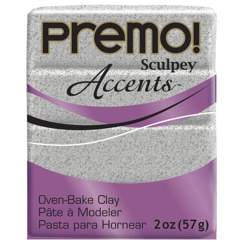 Premo Sculpey Polymer Clay 2 Ounces-Gray Granite