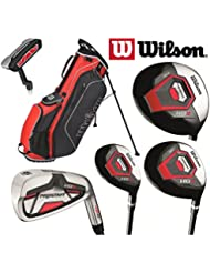 Wilson Prostaff HDX hierros con varilla de acero completa 11 piezas Golf Club Set y bolsa de soporte de Ionix nuevo para 2017 Mens mano derecha