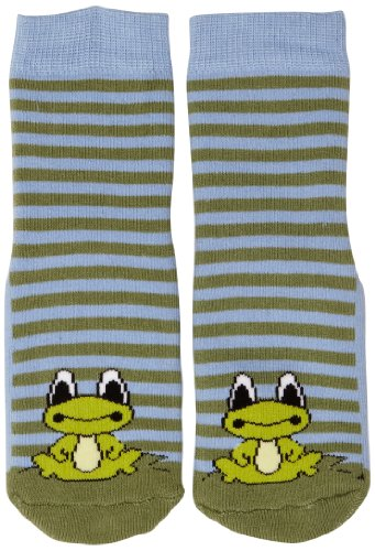 Country Kids Slipper Sock Frog Chaussettes, Vert (Green), FR: 7 Ans (Taille Fabricant: 6-8 Years) Mixte bébé