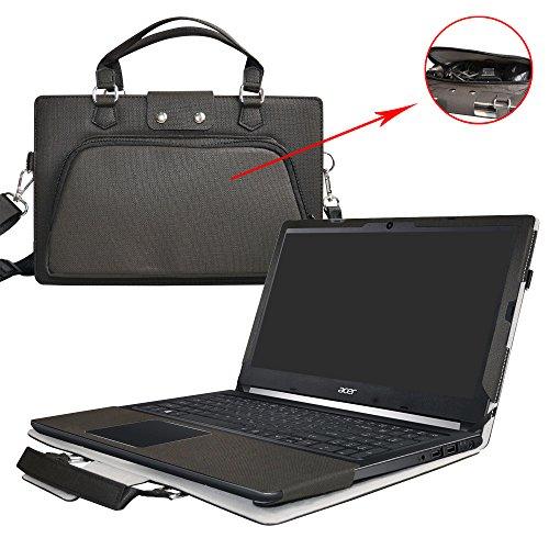 """Aspire 5 15 Hülle,2 in 1 Spezielles Design eine PU Leder Schutzhülle + Portable Laptoptasche für 15.6\"""" Acer Aspire 5 A515-51G A515-51 Series Notebook,Schwarz"""