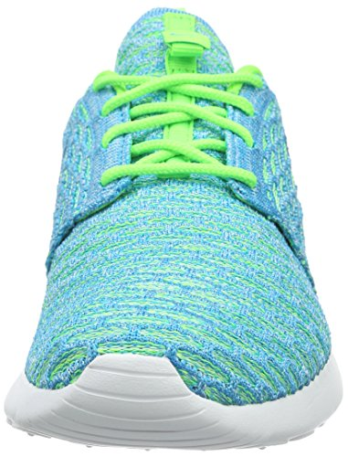 Nike Damen Roshe One Flyknit Sneakers Türkis (Electric Green/Blue Lagoon/Glacier Ice)