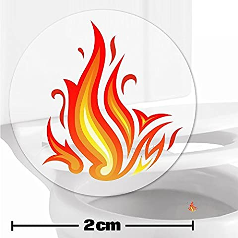 10 x Flames Toilet Target Stickers -