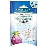Francodex Pipettes Apaisantes et Répulsives pour Chat 4x1ml