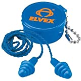 Elvex Quattro Corded Reusable Ear Plug with Container, 27 NRR by Elvex