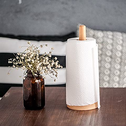 MDRW-Toilet Accessories Toilet Paper Rack Kitchen Towel Rack Environmental Protection Log Paper Towel Rack No Lacquer Roll Paper Toilet Paper Column Kitchen Paper Towel