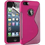NWNK13� iPhone 6 (4.7) Premium Soft Rubber Gel Jelly Case Cover Screen Protector & Polishing Cloth (Pink)
