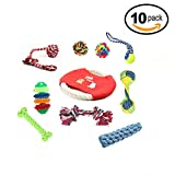SRI High Quality Puppy Toys Set - Cotton Rope Toy, Teething Chewing Training Toys for Small Pets - Pack Of 10