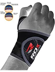 RDX Protège Poignet Poids Support Musculation Bande Crossfit Sangle D'entrainement Fitness (Le Paquet Contient Une Seule Pièce)
