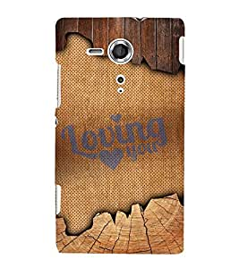 Loving You Quote 3D Hard Polycarbonate Designer Back Case Cover for Sony Xperia SP :: Sony Xperia SP M35h