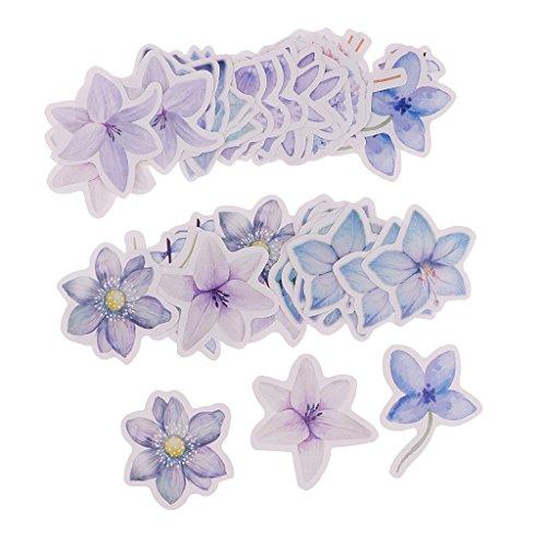 B Baosity 45 Stück Blumen Sticker Deko Sticker Aufkleber - Luce