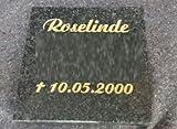 Grabplatte mit Gravur Granitplatte Grabstein Liegestein Urnenstein - 3