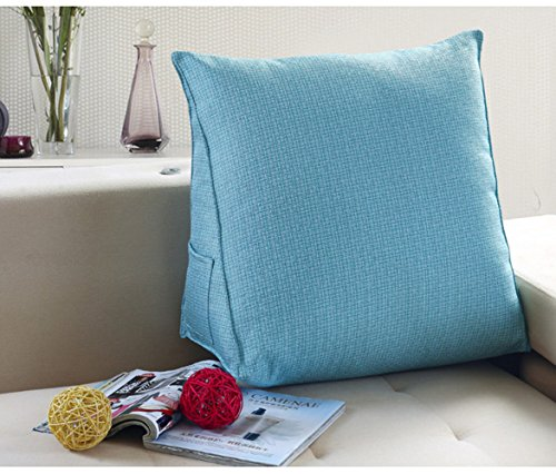 Rückenkissen / Lordosenstütze / Lendenkissen / Keilkissen verbessert die Körperhaltung und verhindert untere Rückenschmerzen Schwangere Zuhause Bett Sofa Büro Verwendung (L, Blau)