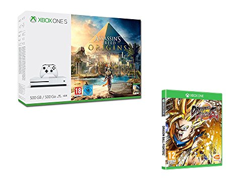 Xbox One S 500 Go Assassin's Creed Origins + DragonBall Fighter Z
