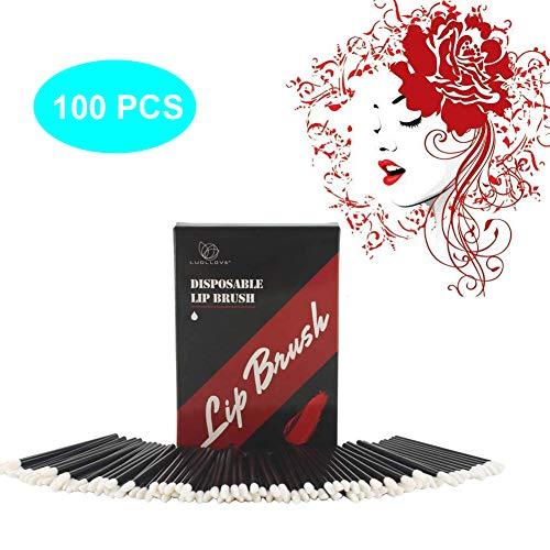 Lippenstift-applikatoren (Applikatoren Lippenstift,Luollove 100 Stück Lip Gloss Pinsel Nicht fusselnd und Hygienisch,Lippenstift Pinsel Für ein perfektes Aussehen(Schwarz))