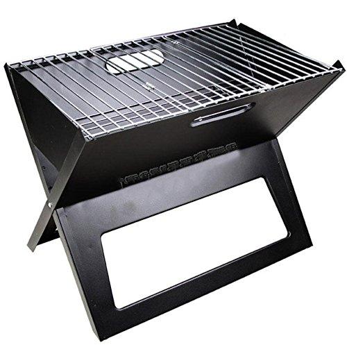 Im Freien faltbarer beweglicher BBQ-Grill-Kohlenstoff-Ofen , black