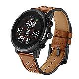 JiaMeng paraGarmin Fenix 3 GPS Watch,Banda de Reloj de Silicona Suave reemplazo Correa de Silicona Suave de Repuesto(marrón)