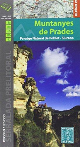Muntanyes de Prades, mapa excursionista. Escala 1:25.000. Alpina Editorial. por VV.AA.