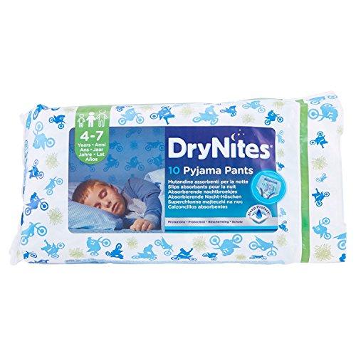 Preisvergleich Produktbild Huggies DryNites Boy hochabsorbierende Pyjamahosen Unterhosen für Jungen 4-7 Jahre,  10 Stück
