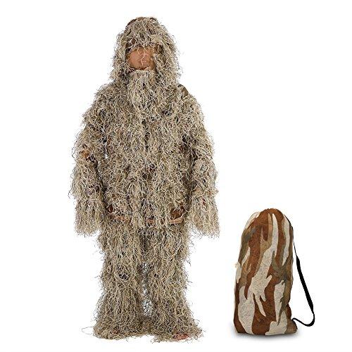 Anzug belaubte Waldkleidung Dschungel Vogel Aufpassen für Jagd Woodland Desert CS heimlichen Shooting, Airsoft, Wildlife Fotografie Halloween Kleidung (Ghillie Anzug Für Halloween)