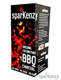 Sparkenzy Premium Long Burning Barbeque Charcoal 10 Kg with Low Smoke and Odor