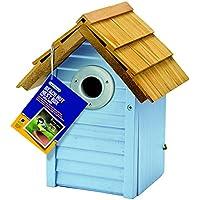 Gardman Beach Hut Nest Box Creamy Creamy Blue