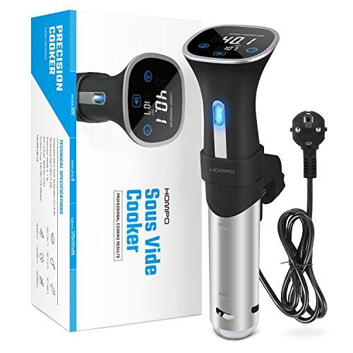 HOMPO Sous Vide Stick 800 Watt Niedrigtemperatur-Garer mit LED Display Umwälzpumpe und Abschaltautomatik - 7