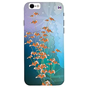 Orange Flowers Design - Mobile Back Case Cover For Apple Iphone 7