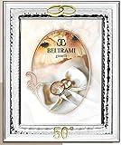 BELTRAMI GIOIELLI Cornice Linea ANNIVERSARI 50° Matrimonio CM 18X24 Fascia CM 3,9 Retro Legno Laminata Argento Made in Italy