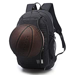 TXXCI Basketball Backpack 15.6 Inch Laptop Shoulders Bag