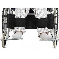 Neppt Rollstuhl Fußstütze Bein Gurt Sicherheitsgurt verstellbar Sicherheit Fuß Unterstützung Zurückhaltung für Behinderte Patienten, ältere & Senioren