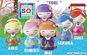 Sega Plush OMG SO Kawaii Geisha Girl Cuddly Soft Toy
