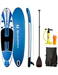 SSV-AKTION ! SKINFOX SEAHORSE SUP-Board ALU-SET Paddelboard SUP 335x78x15 Aqua Marina DOUBLE-LAYER Board (1Erw.+1Kind)