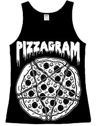The Dead Generation Pizzagram Occult Pentagram Ladies Vest Top - Gothic Clothing by Luna Cult
