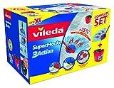Vileda SuperMocio Putz-Set mit Wischmopp und Eimer