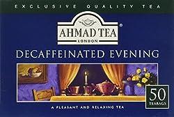 Ahmad Tea Decaffeinated Evening Tea (Pack Of 1, Total 50 Tea Bags)
