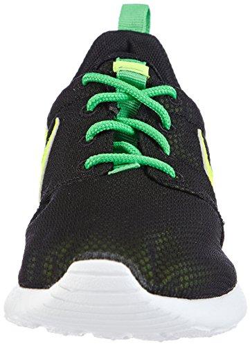 Nike Rosherun, Chaussures de Running Mixte Enfant Noir - Black (Black/Volt/White/Lite Green Spark)