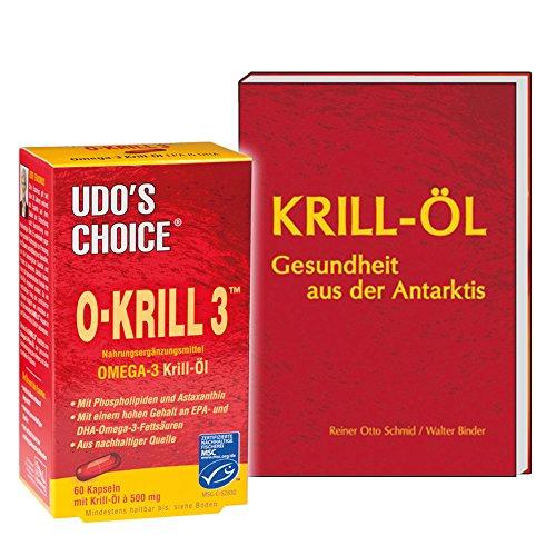 Krillöl von Udo Erasmus, 60 Kapseln + Buch: Krill-Öl, 120 Seiten (Sie sparen 10 Euro gegenüber Einzelkauf) (Omega-3-flora)