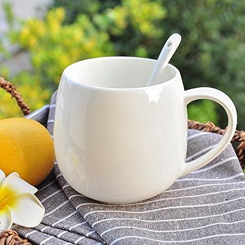 Las tazas de café taza de leche creative tazones de cerámica simple práctico desayuno taza de porcelana