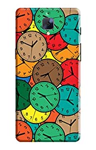 KanvasCases Back Cover for one plus 3 - Wall-clock-Seamless