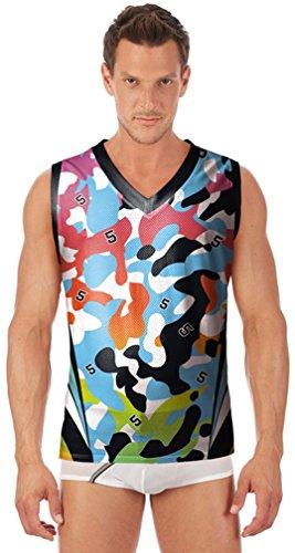 Thenice Damen Asymmetrischer Top, Animalprint Mehrfarbig mehrfarbig One size Camouflage